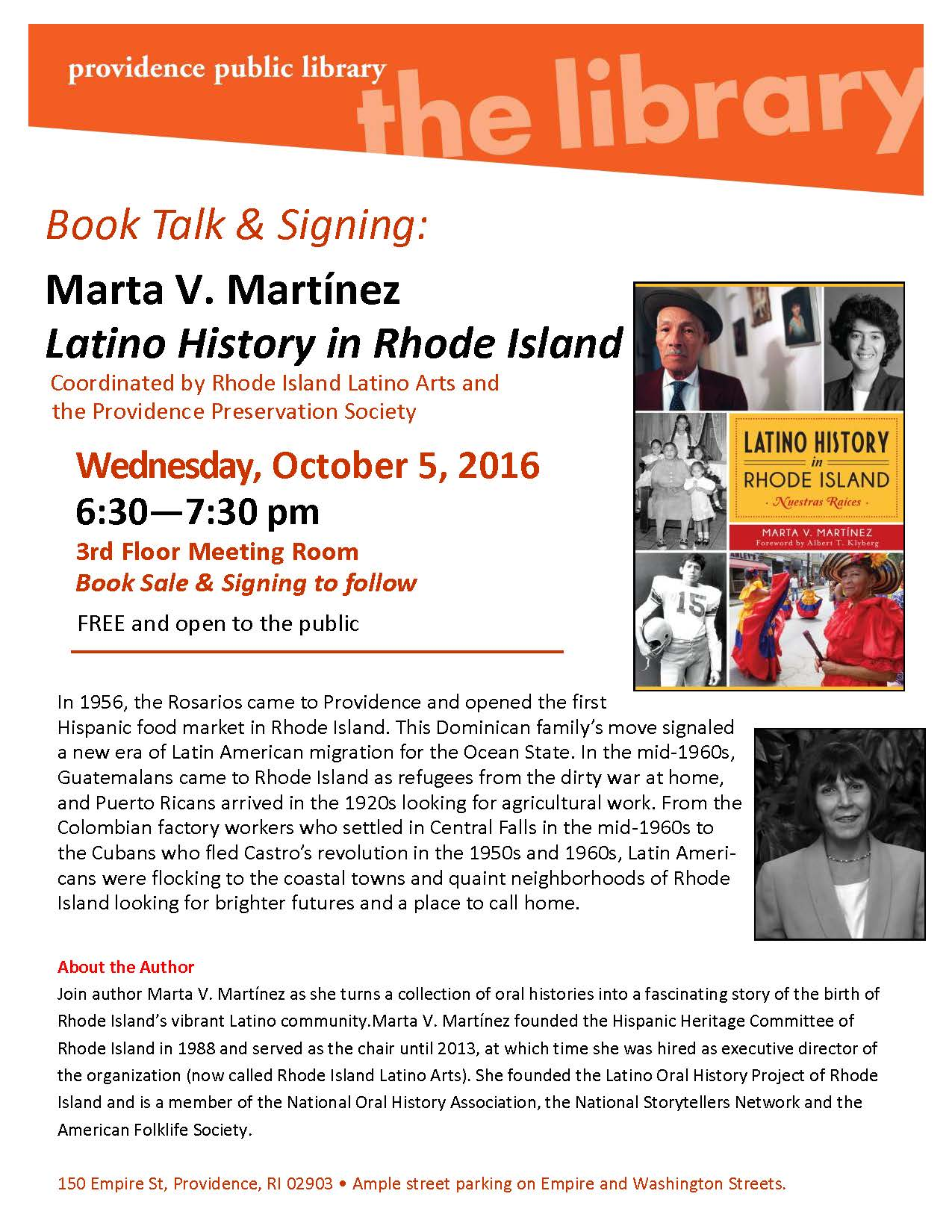 Latino History Talk on Oct 5 2016