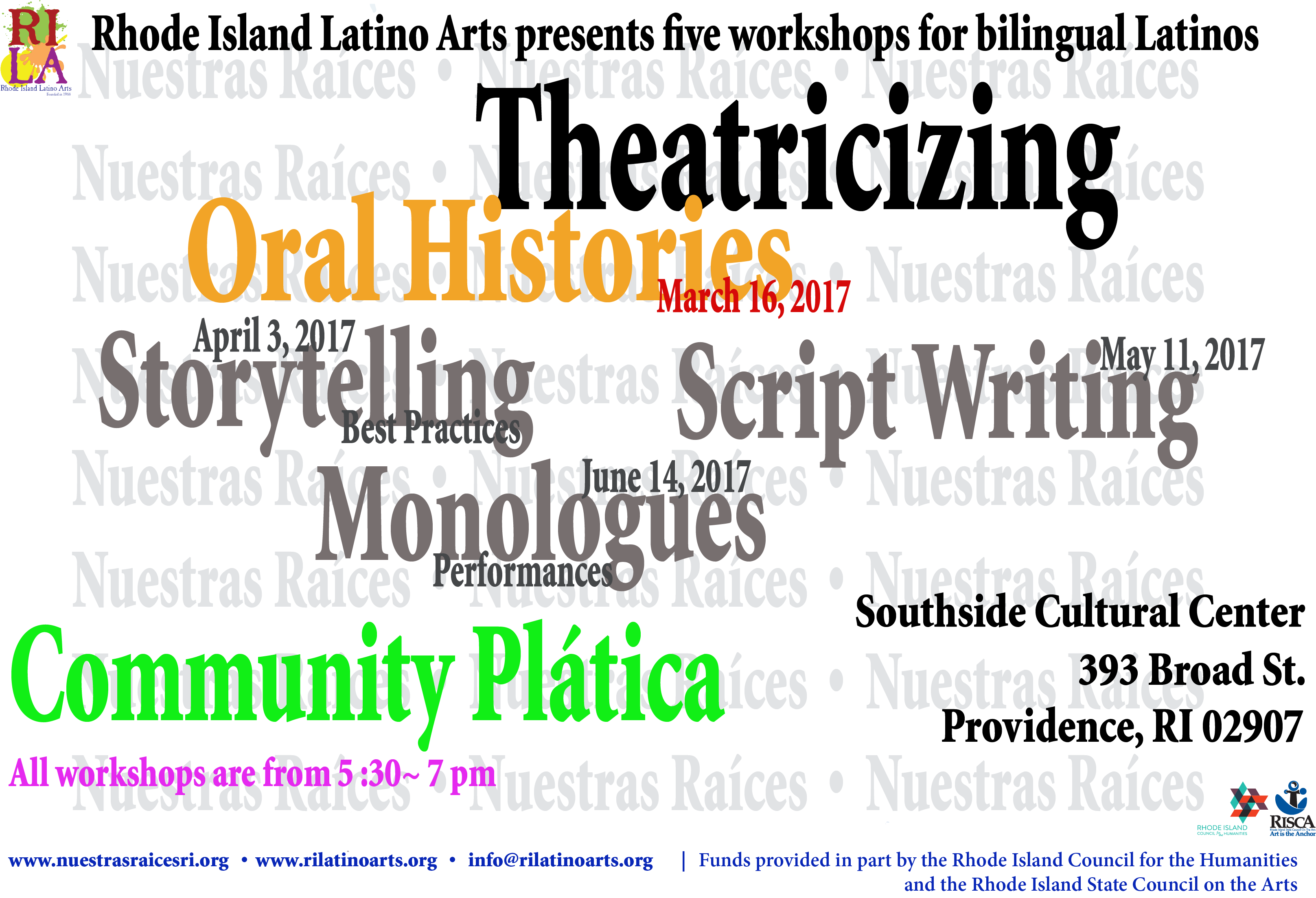 Theatricizing Oral Histories March 16 2017post card